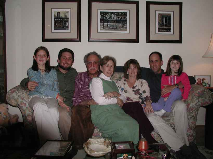 Staiman family at Passover