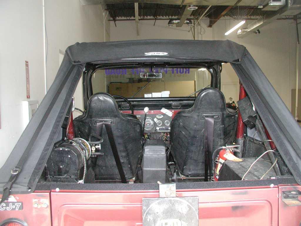 Rear view open